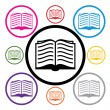 Vector set of book symbols — Stock Vector