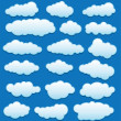 Vector set of clouds in the sky — Stock Vector #12414079