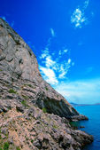 Golitsyn trail along the cliffs — Stock Photo