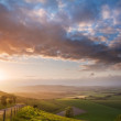 Beautiful English countryside landscape over rolling hills — Stock Photo #11169508