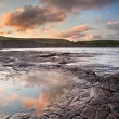 Kimmeridge Bay sunrise landscape, Dorset England — Stock Photo