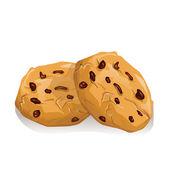Chocolate cookies — Stock Vector