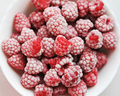 Frosen raspberries — ストック写真