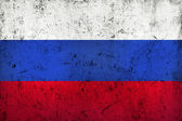Grunge Dirty and Weathered Russian Flag — Stock Photo