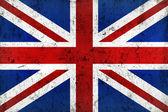Grunge Dirty and Weathered British Flag — Stock Photo