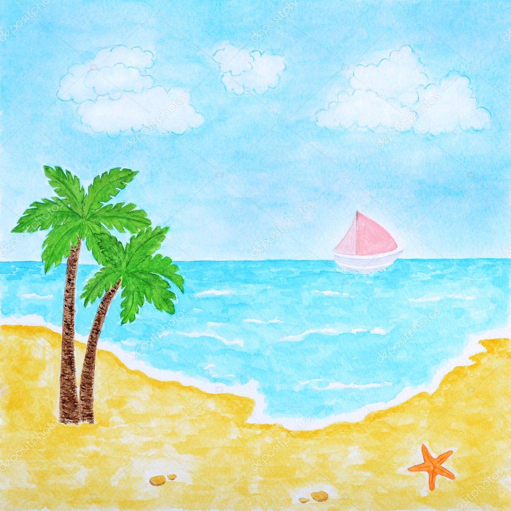 Рисунок на тему лето