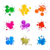 Set of Abstract Drops Watercolor Hand Drawn and Painted — Stock Photo