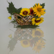 Still-life from basket with colours — Stok Fotoğraf #11436947