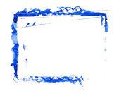 Blue paint frame — Stock Photo