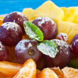 Colorful Fruits in powdered sugar — ストック写真