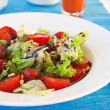 Fresh salad with cherry and lettuce — Foto Stock