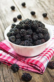 Mulberry berries in a bowl — Stock Photo