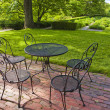 Garden patio - Stock Photo