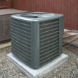 Постер, плакат: Heat pump and ac unit