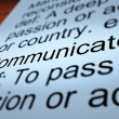 Communicate Definition Closeup Showing Dialog — Stock Photo