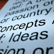 Concepts Definition Closeup Showing Ideas Or Invention — Stock Photo