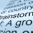 Brainstorm Definition Closeup Showing Research Thoughts — 图库照片