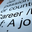 Career Definition Showing Profession And Employment — Foto de stock #10999608