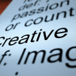 Creative Definition Closeup Showing Original Ideas — Stock Photo