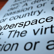 Stock Photo: Cyberspace Definition Closeup Showing Online Networks