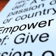 Empower Definition Closeup Showing Authority Or Power - Stock Photo