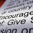 Encourage Definition Closeup Showing Motivation — Stock Photo