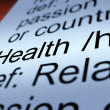 Health Definition Closeup Showing Wellbeing Or Healthy — Stock Photo