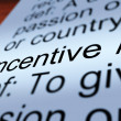 Stock Photo: Incentive Definition Closeup Showing Enticing