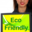 Eco Friendly Computer Message As Symbol For Recycling — Stock Photo #10999716