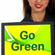 Go Green Computer Message As Symbol For Eco friendly — Stock Photo #10999721