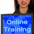 Online Training Computer Message Showing Web Learning — Stock Photo