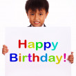 Happy Birthday Sign For Greeting And Celebration — Stock Photo