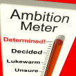 Stock Photo: Ambition Meter Showing Motivation And Drive