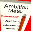 Ambition Meter Showing Motivation And Drive — Stock Photo