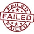 Failed Stamp Showing Reject Or Failure — Stock Photo