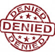 Stock Photo: Denied Stamp Showing Rejection Or Refusal