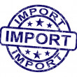 Import Stamp Showing Importing Goods — Stock Photo #10999843