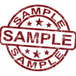 Stock Photo: Sample Stamp Shows Example Symbol Or Taste
