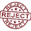 Reject Stamp Shows Rejection Denied Or Refusal - Stockfoto