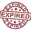 Expired Stamp Shows Product Validity Ended - ストック写真