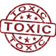 Toxic Stamp Shows Poisonous And Noxious Substance - Stock Photo