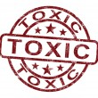 Toxic Stamp Shows Poisonous And Noxious Substance — Stock Photo #10999856