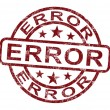Error Stamp Shows Mistake Fault Or Defect — Stock Photo