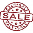 Stock Photo: Sale Stamp Showing Promotion And Reduction