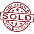 Sold Stamp Shows Selling Or Purchasing — Stock Photo #10999870