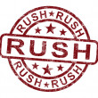 Stock Photo: Rush Stamp Shows Speedy Urgent Delivery