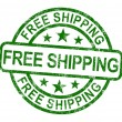 Stock Photo: Free Shipping Stamp Showing No Charge Or Gratis To Deliver