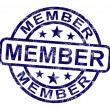 Stock Photo: Member Stamp Shows Membership Registration And Subscribing
