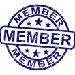 Постер, плакат: Member Stamp Shows Membership Registration And Subscribing