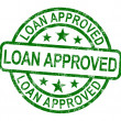 Loan Approved Stamp Shows Credit Agreement Ok — Stock Photo
